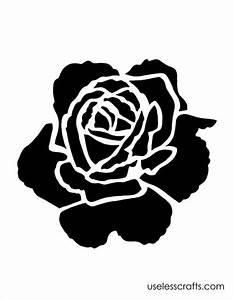 Rose Stencil | Verf,Paint | Pinterest | Stencils, Rose ...