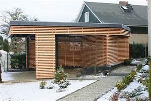 Carport Holz Modern : modern car port carports zeesen garage pinterest fahrradhaus anbau und haus und garten ~ Markanthonyermac.com Haus und Dekorationen