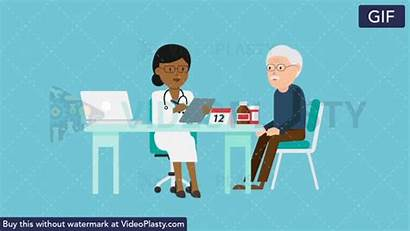 Doctor Patient Female Consultation Gifs Care Hospital