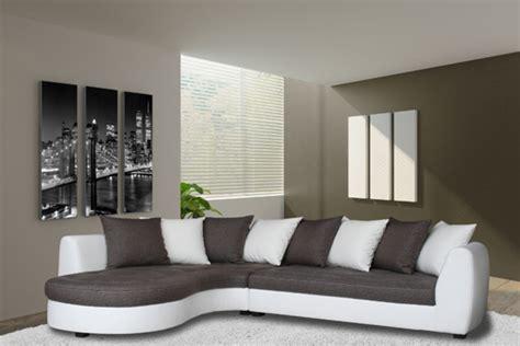 h et h canapé canape d 39 angle à gauche haricot blanc gris taupe