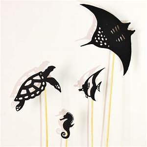Ocean Life Shadow Puppet Set: 9 puppets - Adventure in a Box