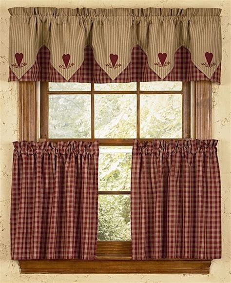 country kitchen valances bj s country charm albemarle shower curtain primitive 2922