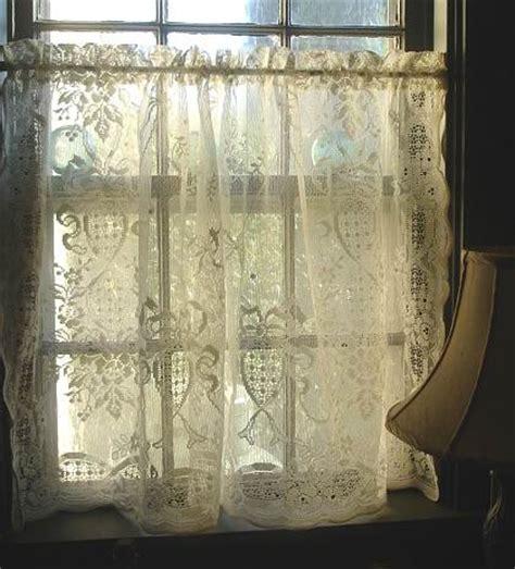 vintage cotton lace cafe curtain