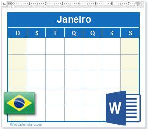 calendario de   feriados brasil como arquivo ms word
