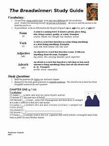 Study Guide For  U0026quot The Breadwinner U0026quot