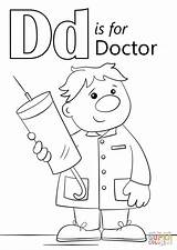 Doctor Coloring Letter Pages Doctors Printable Preschool Drawing Dinosaur Alphabet Supercoloring Lemonade Activities Stand Sheets Printables Alexs Animal Again Bar sketch template