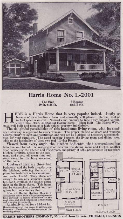 plan    harris bros  kit houses  story