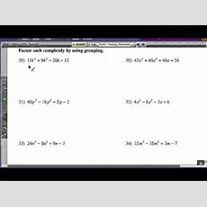 Factoring Polynomials By Grouping Youtube