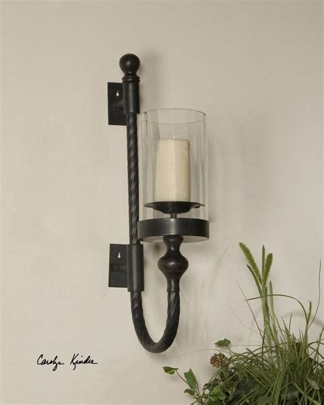 outdoor candle sconces uttermost garvin tuscan candle wall sconce w hurricane