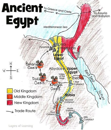 map  ancient egypt ancient egypt lessons ancient
