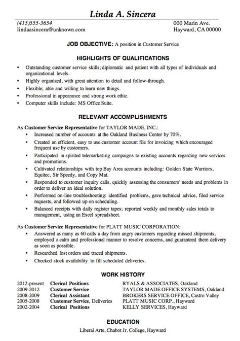 exles of outstanding resumes sle of a resume for safero adways