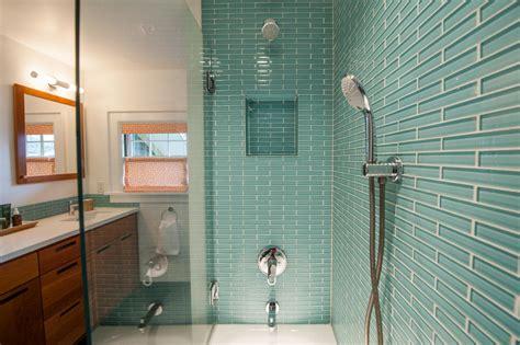 glass tile bathroom ideas photos hgtv
