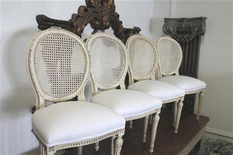 antique french cane back dining chairs (drool)   la belle