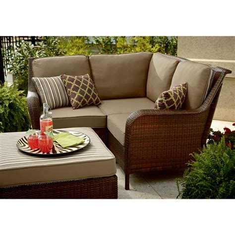 mayfield 4 sectional wicker patio set update your
