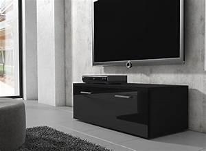 Tv Lowboard 100 Cm Breit : tv m bel lowboard schrank st nder boston korpus schwarz front schwarz hochglanz 100 cm ~ Bigdaddyawards.com Haus und Dekorationen