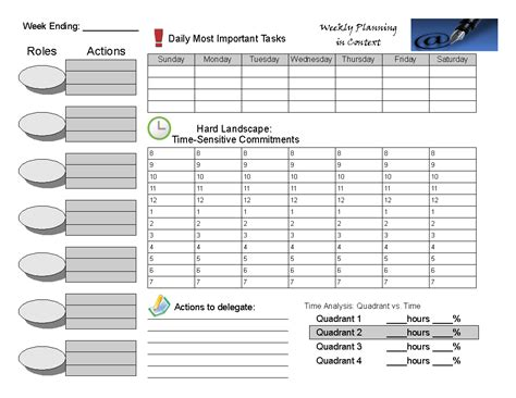 habits  highly effective people weekly planner