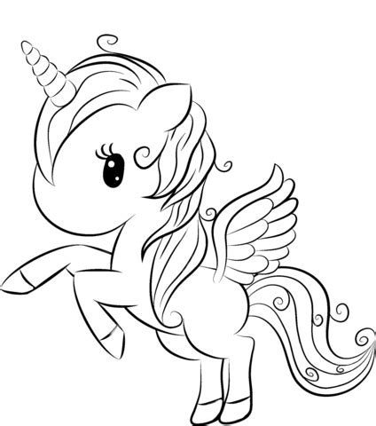 cute unicorn coloring page  printable coloring pages
