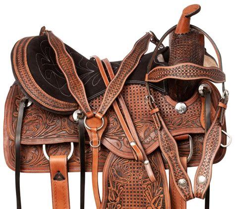 western tack horse saddle custom pleasure leather silver