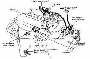1998 Toyota Camry Le Emission Diagram