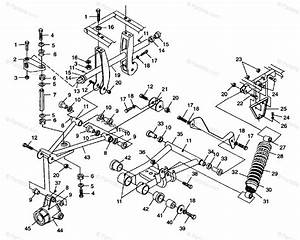 Polaris Atv 1998 Oem Parts Diagram For Rear Suspension