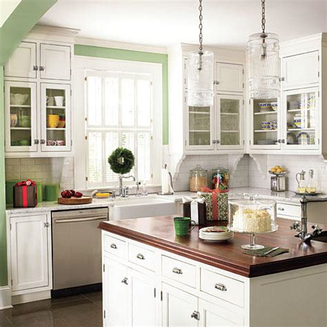 white cabinets kitchen green decorating ideas southern living 1012