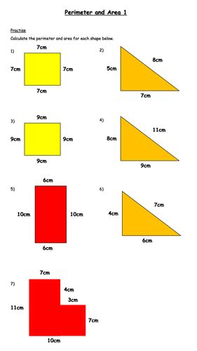 calculating area and perimeter worksheet year 6 by