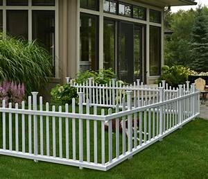 zippity outdoor products 30 in x 58 in madison no dig With white dog fence