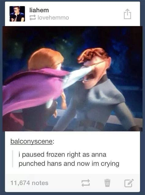 When Anna Punches Hans Haha  Kayliz  Pinterest Disney