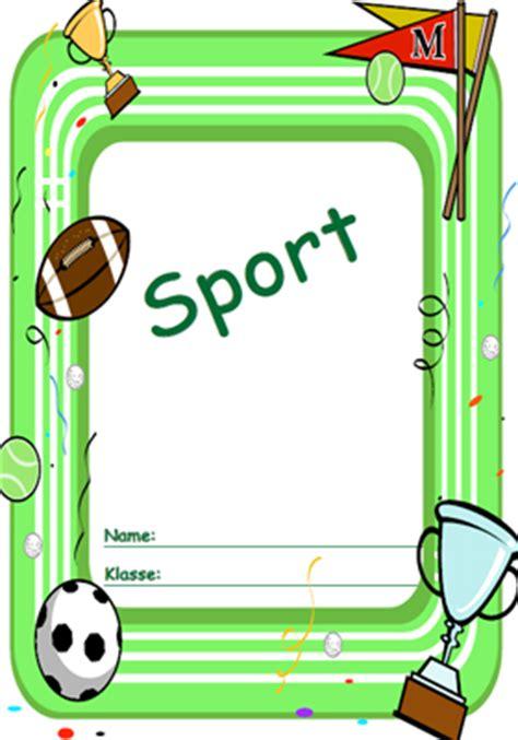 deckblatt sport ausdrucken