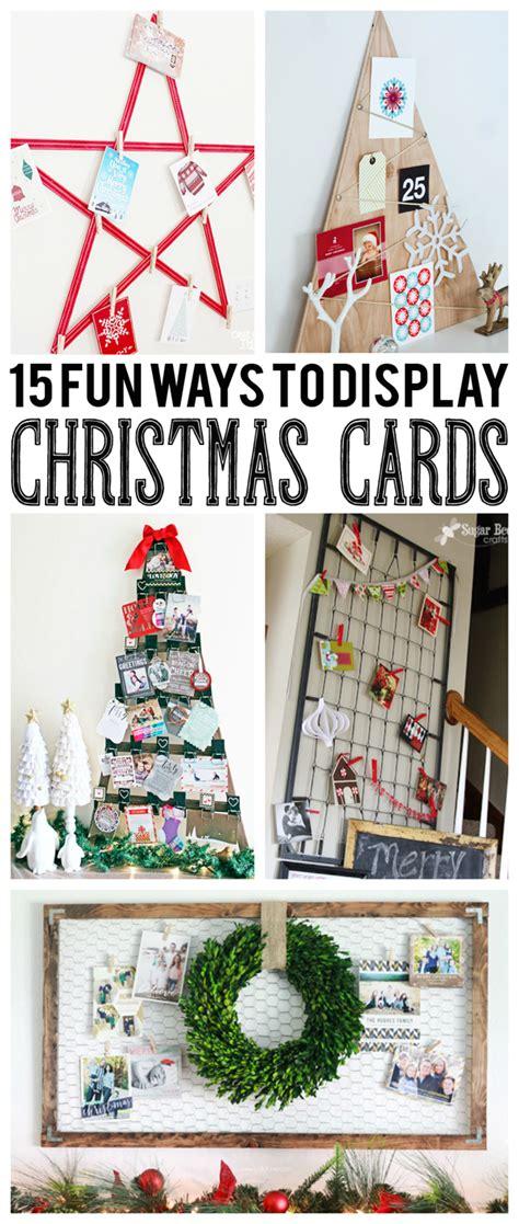 fun ways  display christmas cards eighteen