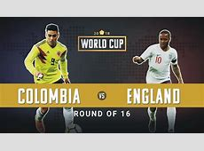 WATCH Colombia vs England Headtohead Preview