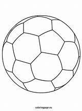 Coloring Pages Soccer Balls Sports Ball Printable Torty Football Zapisano Coloringpage Eu Team Getcolorings sketch template