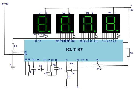 led digital voltmeter working with circuit diagram