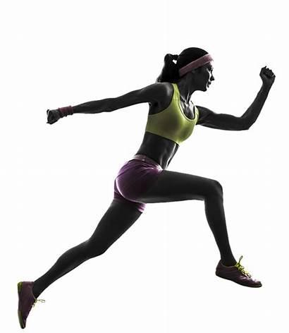 Runner Silhouette Runners Running Woman Female Transparent