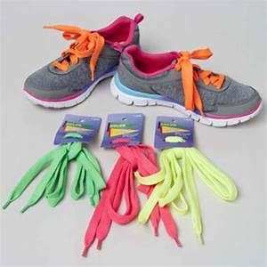 Wholesale Bright Neon Shoelaces 4 Assorted Colors SKU