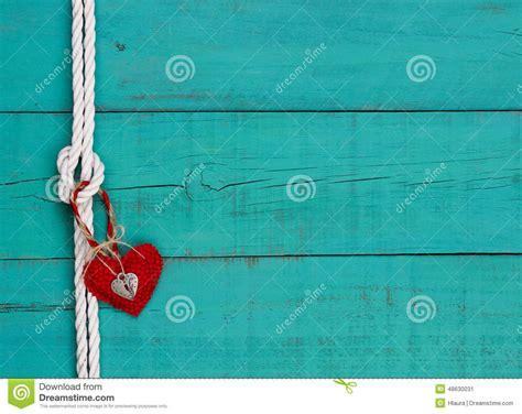 red heart  lock hanging  rope knot border