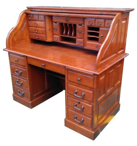 [54 Inches] Oak Deluxe Rolltop Desk  Simply Woods. 8 Folding Table. Micros Cash Drawer. Adjustable Desks For Standing. Officemax Desk. Wooden Footrest For Under A Desk. Kmart End Tables. Wilko Desk Fan. Contemporary Pool Tables