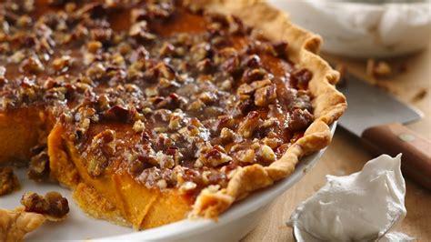 Pumpkin Pie With Pecan Streusel Topping honeyed pumpkin pie with broiled praline topping recipe