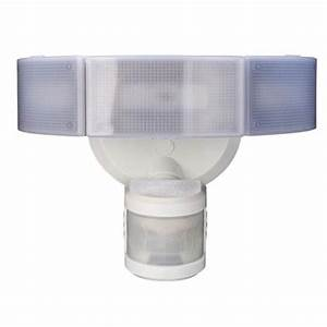 270 degree 3 head white led motion outdoor security light With outdoor security lighting with alarm