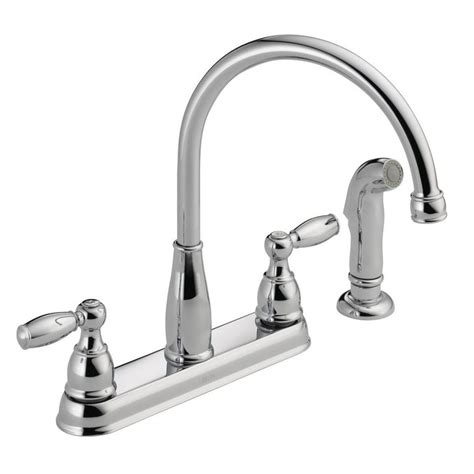 Delta Foundations 2handle Standard Kitchen Faucet With