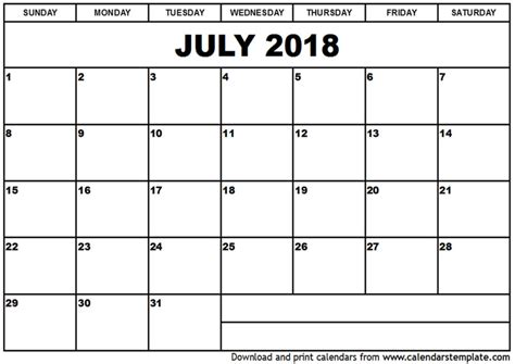 Free Calendar Template 2018 Top 15 Calendar 2018 Templates Printable 2018 Calendar