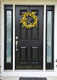 pictures of front doors Painting the front door - another DIY fail | Kiss my List
