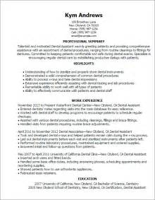 dental assistant resume experience writing dental assistant resume effectively