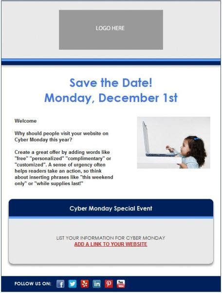 save the date email template 7 email templates for small businesses nonprofits