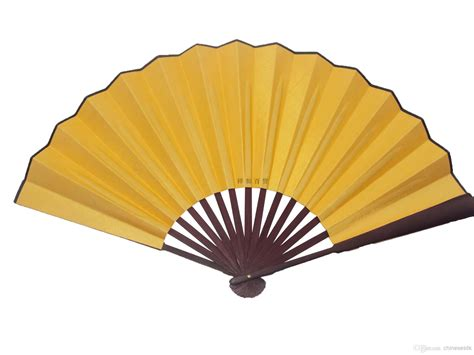 where to buy big fans large blank yellow silk foldable party favor gifts hand