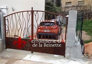 Rouille Sur Inox : portail en fer forg effet rouill toulon ferronnier var 83 ferronnerie d 39 art la reinette ~ Medecine-chirurgie-esthetiques.com Avis de Voitures