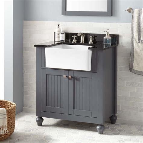 farm sink bathroom vanity 30 quot nellie farmhouse sink vanity dark gray bathroom