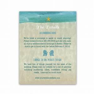 beach chair wedding additional information cards With pop up beach chair wedding invitations