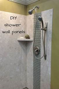 diy shower wall panels can have a dramatic look this With how to fix bathroom wall panels