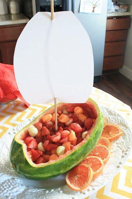 kara 39 s party ideas watermelon fruit summer girl 1st fruit tray for nautical theme nautical